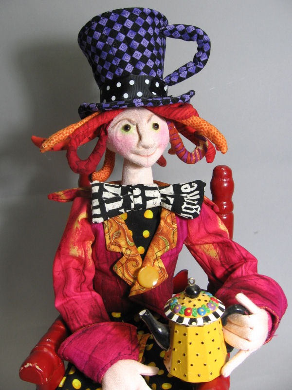 The Mad Hatter - Cloth Doll Sewing Pattern by Julie McCullough